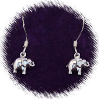 Sterling Silver Baby Elephant Earrings