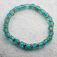 Turquoise Crackle Bead