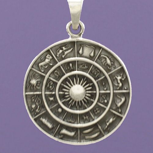 Purple enchantments sterling silver zodiac pendant mozeypictures Gallery