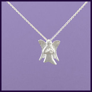 Angel Holding a Cubic Zirconia