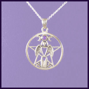 Angel Pentagram with Amethyst