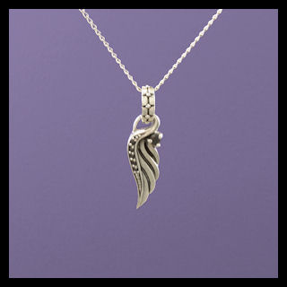 Angel Wing Left with Black Cubic Zirconia (2)