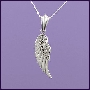 Angel Wing Left with Clear Cubic Zirconia