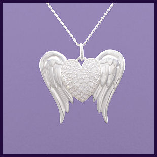 Angel Wings with a Cubic Zirconia Heart (1)