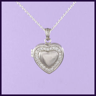 Heart Locket with Cubic Zirconia (1)