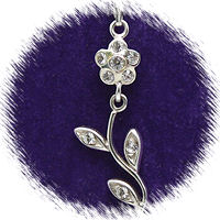 Moveable Flower with Austrian Crystal
